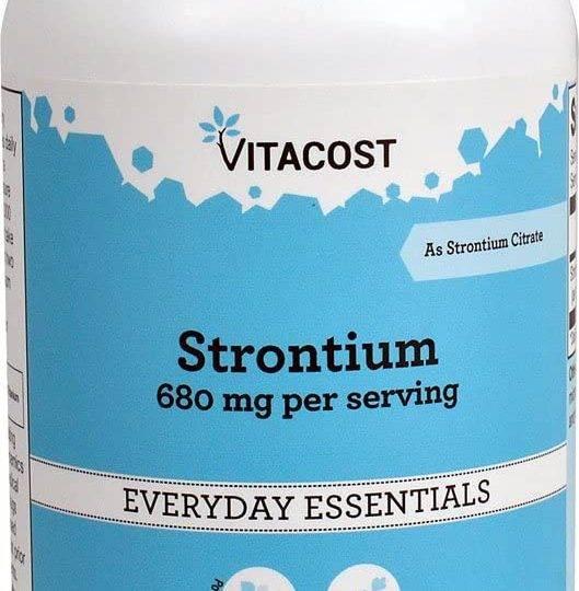 Strontium - 340 mg , 120 buc