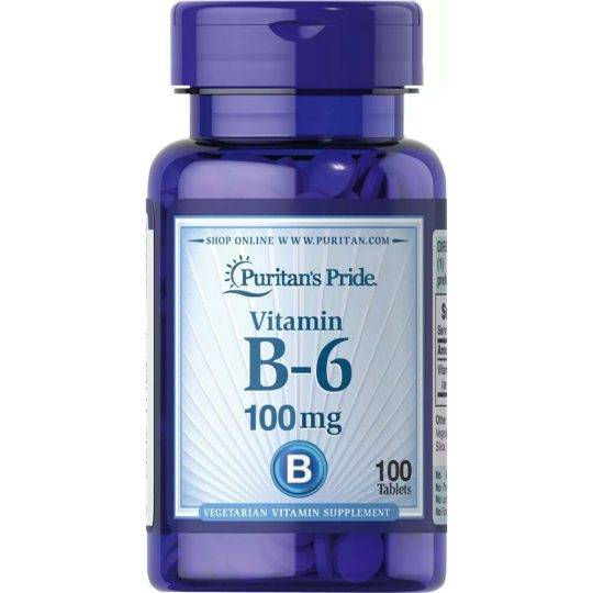 Vitamina B6 100 mg 100 buc