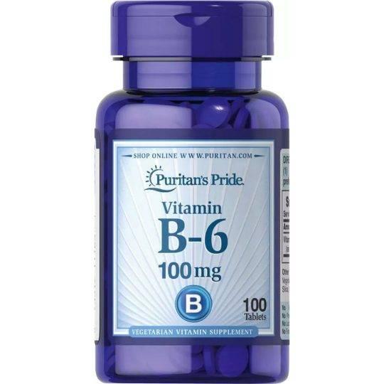 Vitamina B6 100 mg 100 buc