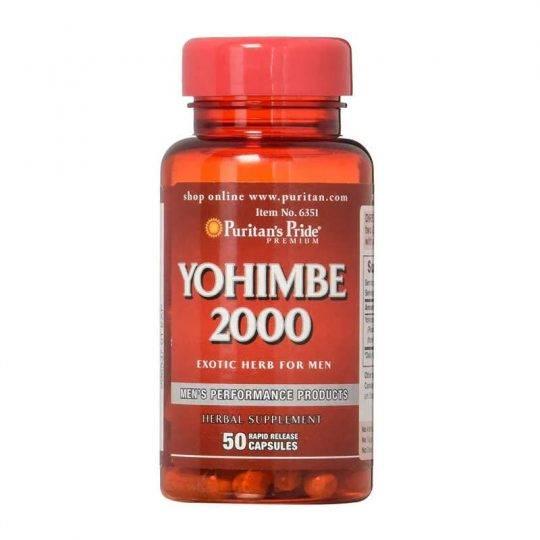Yohimbe 2,000 mg (2 g), 50buc.
