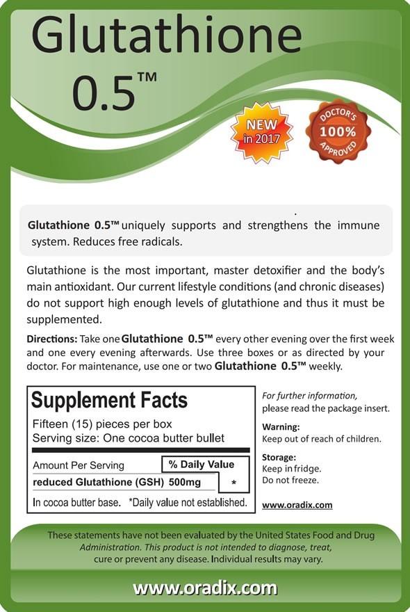 Glutathion 500mg (15buc)